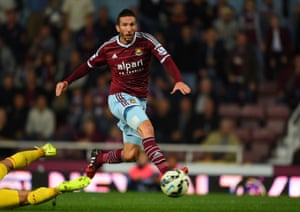 Morgan Amalfitano prods home the third goal to seal the three points for West Ham.