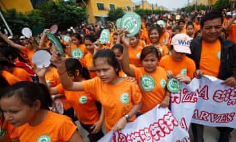 Garment workers in Phnom Penh