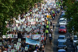 People's Climate March started on The Strand