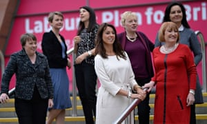 Shadow minister for women and equalities, Gloria de Piero (in white) with other female MPs