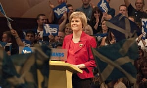 Nicola Sturgeon gives a speech on the eve of the Scottish independence referendum in Perth