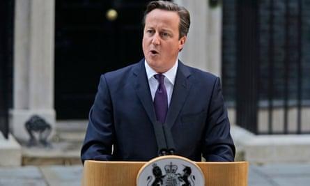 David Cameron, outside no 10