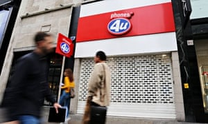 Phones 4u goes into administration, London, Britain - 17 Sep 2014
