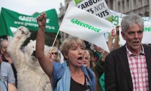 emma thompson climate change march london