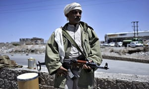 Houthi rebels take position around Yemeni Government TV in Sanaa