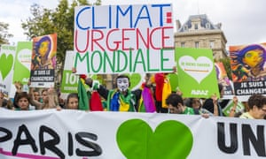 The climate march in Paris.
