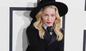 Madonna arrives at the 56th GRAMMY Awards