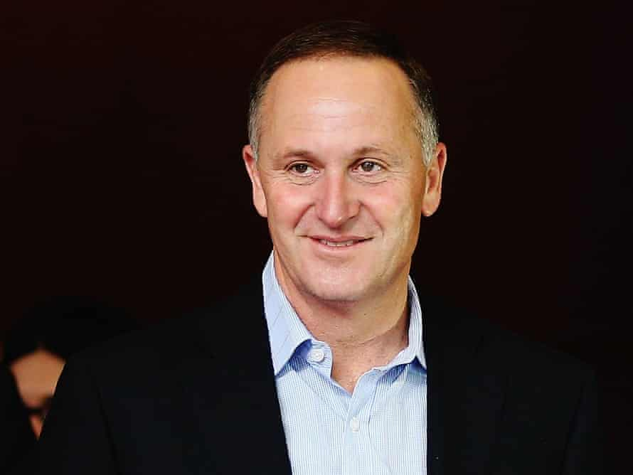 Newly elected Prime Minister John Key leaves after speaking to the media.