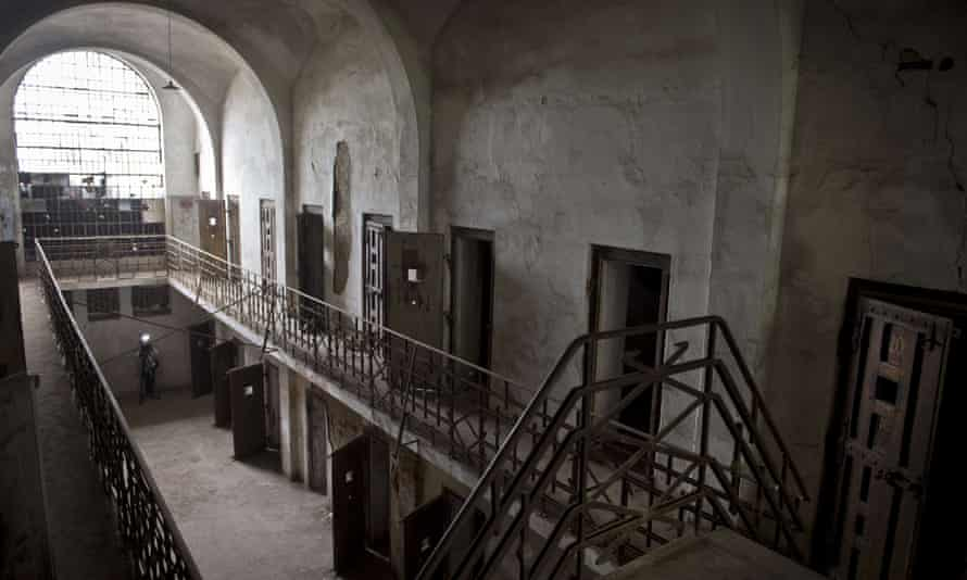 The interior of the prison in Ramnicu Sarat, Romania.