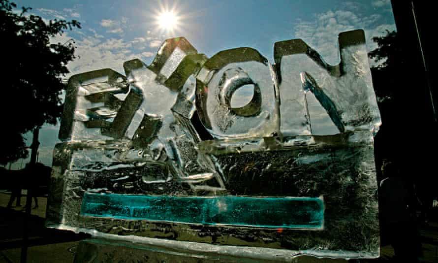 Exxon ice sculpture