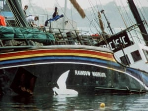 Sinking of the Greenpeace ship Rainbow Warrior, Auckland, New Zealand, August 1985