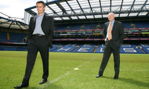 José Mourinho is unveiled as Chelsea manager in 2004, with chief executive Peter Kenyon alongside him.