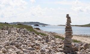 Stones on Popplestones beach