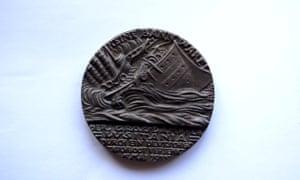 Lusitania medal sinking