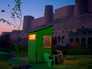 A security guard's booth at the newly restored Ikhtiaruddin citadel.