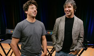 Google co-founders Sergey Brin (left) and Larry Page were clear from the start – their mission was 'to organise the world's information and make it universally accessible and useful'. Photograph: Paul Sakuma/AP