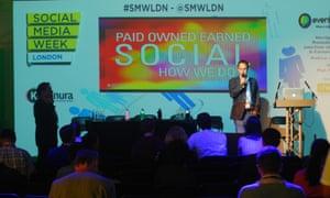 Speakers take to the stage at Social Media Week London.