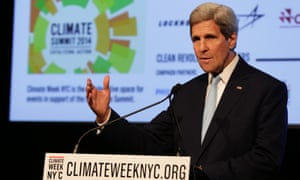 US Secretary of State John Kerry delivers remarks at NYC Climate Week.