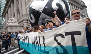 Wall Street climate protest