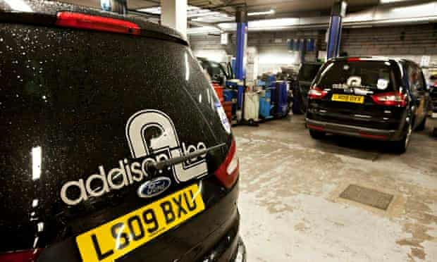 The Addison Lee service centre in Euston, London