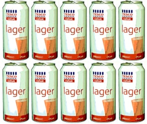 Tesco lager combination photo.
