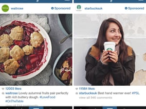 Waitrose and Starbucks are among the first brands to run Instagram ads in the UK.
