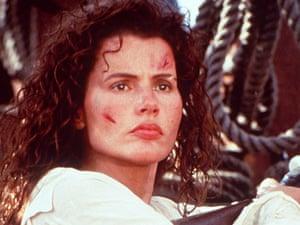 Geena Davis in Cutthroat Island (1996).