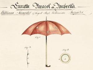 Umbrella with viewing holes
