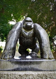 Statue of Guy the gorilla in Crystal Palace, south London, by David Wynne.