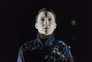 Abke Haring playing Hamlet in Hamlet vs Hamlet at the Toneelgroep Amsterdam in 2014