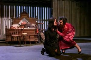 German actress Angela Winkler plays Hamlet at the Edinburgh International Festival, August 2000