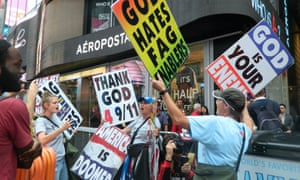 Westboro Baptist Church pickets in Times Square.
