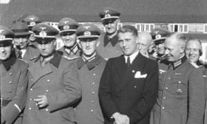 Walter Dornberger, Friedrich Olbricht, Wilhelm von Leeb, and Wernher von Braun at Peenemünde, 1941