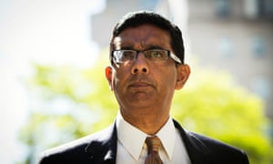 Conservative commentator and best-selling author, Dinesh D'Souza exits the Manhattan Federal Courthouse after pleading guilty.