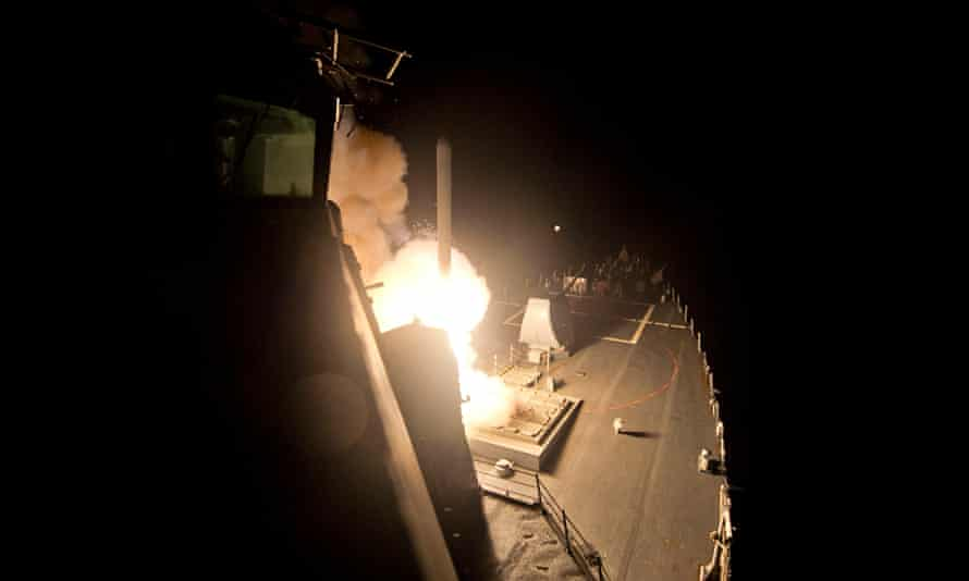 USS Arleigh Burke launches Tomahawks against Isis