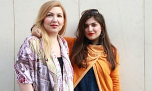 British-Iranian law graduate Ghoncheh Ghavami, right, with her mother, Susan Moshtaghian. She is acc