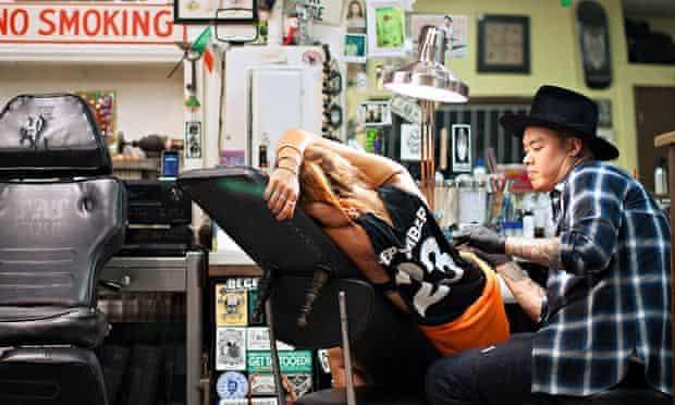Dr Woo tattoos Morwenna Ferrier