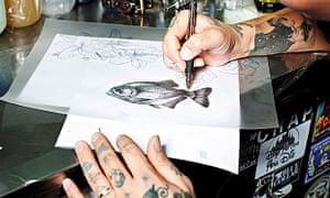 Dr Woo drawing of piranha