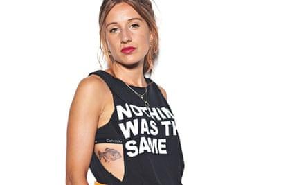 Morwenna Ferrier with her tattoo