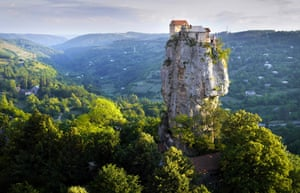 "The Katskhi Pillar, Georgia: A Georgian hermit has lived there for the past twenty years to be ""closer to god."""