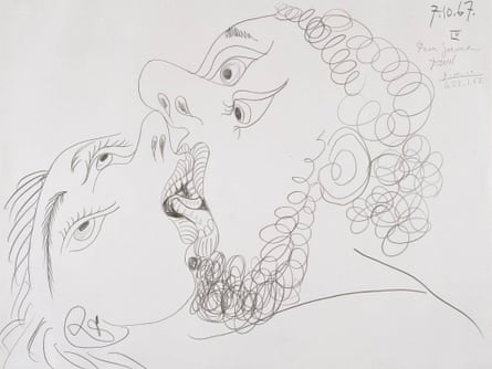 The Kiss 1967 Pablo Picasso