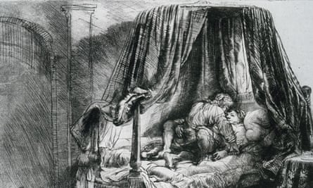 Rembrandt The French Bed