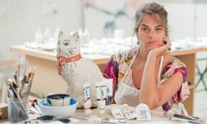 Tracey Emin in her studio