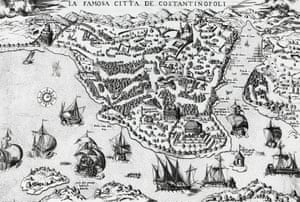 The city of Constantinople – 16th century.