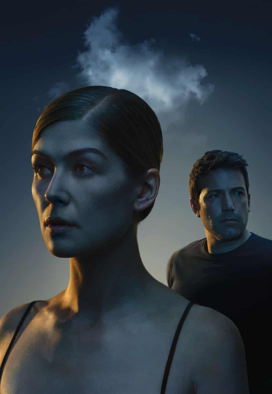 Mr and missing: Rosamund Pike as Ben Affleck's AWOL wife in Gone Girl