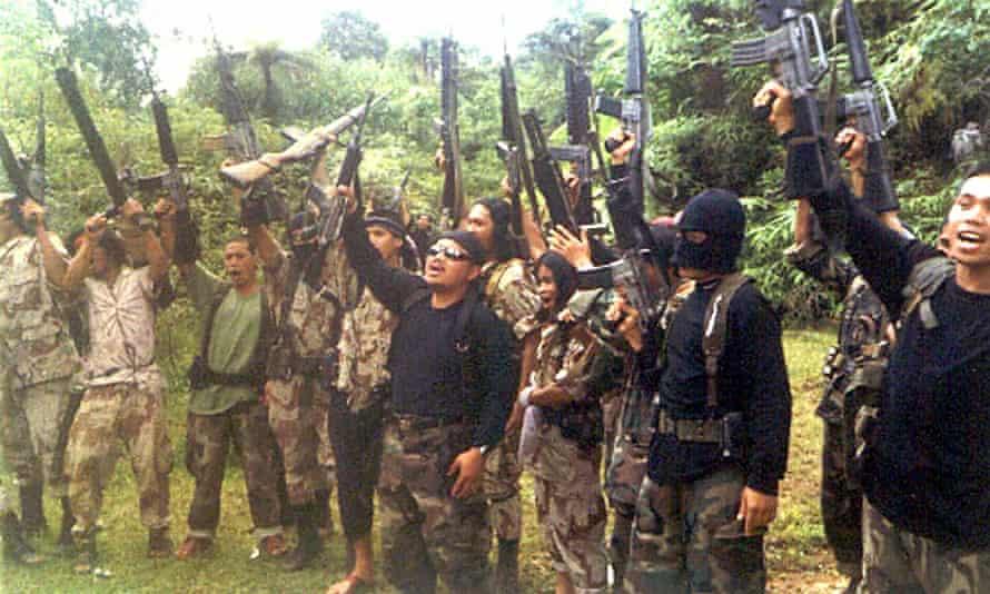 Members of the extremist group Abu Sayyaf
