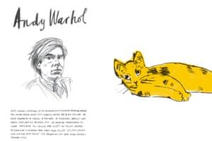 Great art Warhol yellow cat