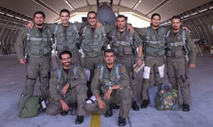 Saudi Press Agency photograph of eight Saudi pilots who took part in a mission against Isis