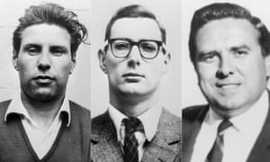 Charles Wilson, Bruce Reynolds, Buster Edwards the men involved in the 1963 Great Train Robbery.