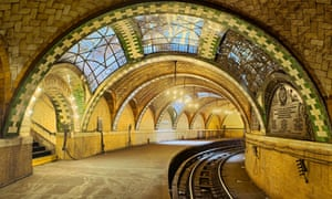 New York's old City Hall Subway Station with tile vaulting by the Gustavino company.